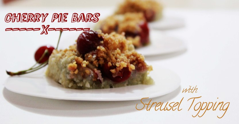 cherry pie bars with streusel topping