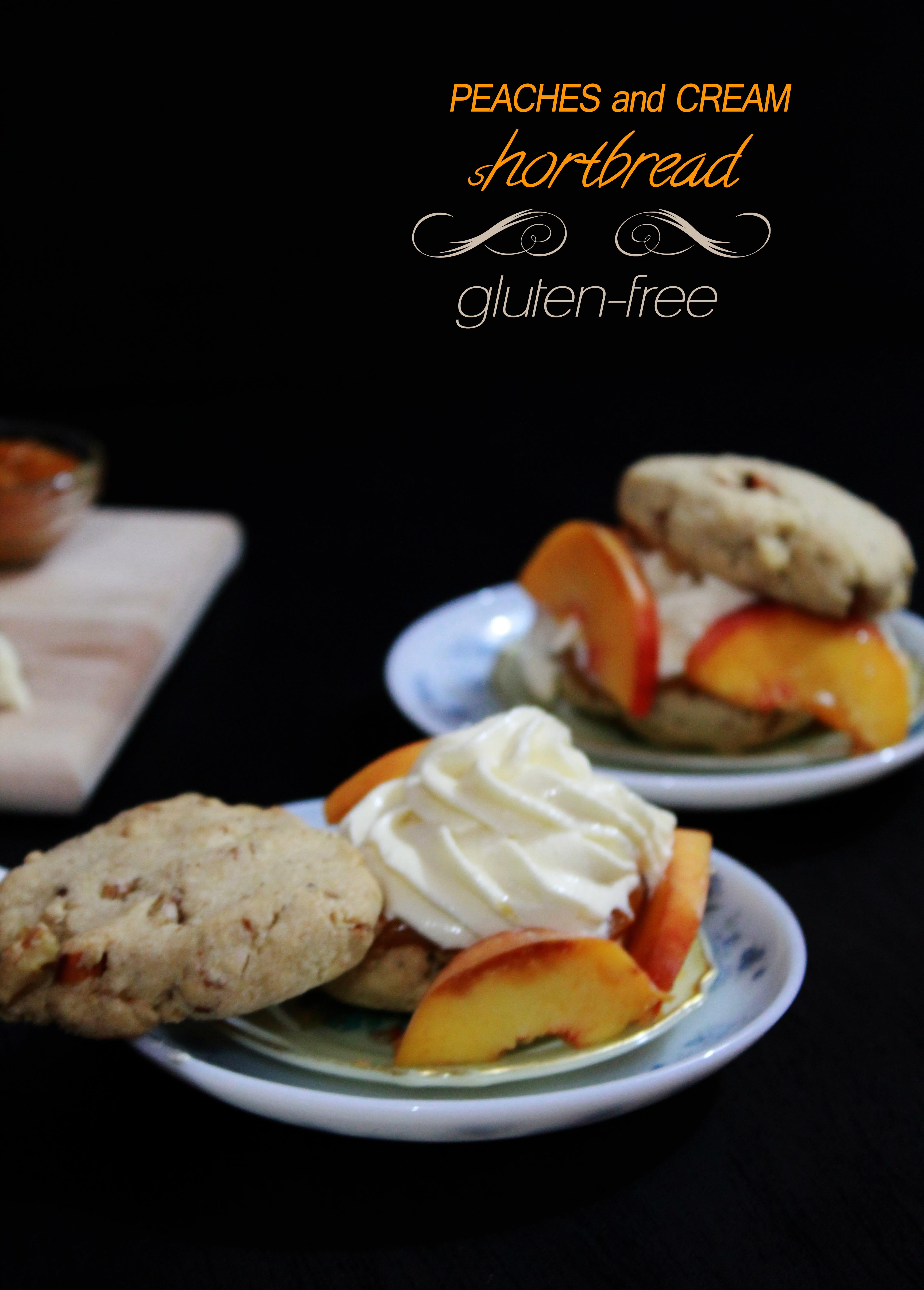Peaches and Cream Shortbread Gluten Free
