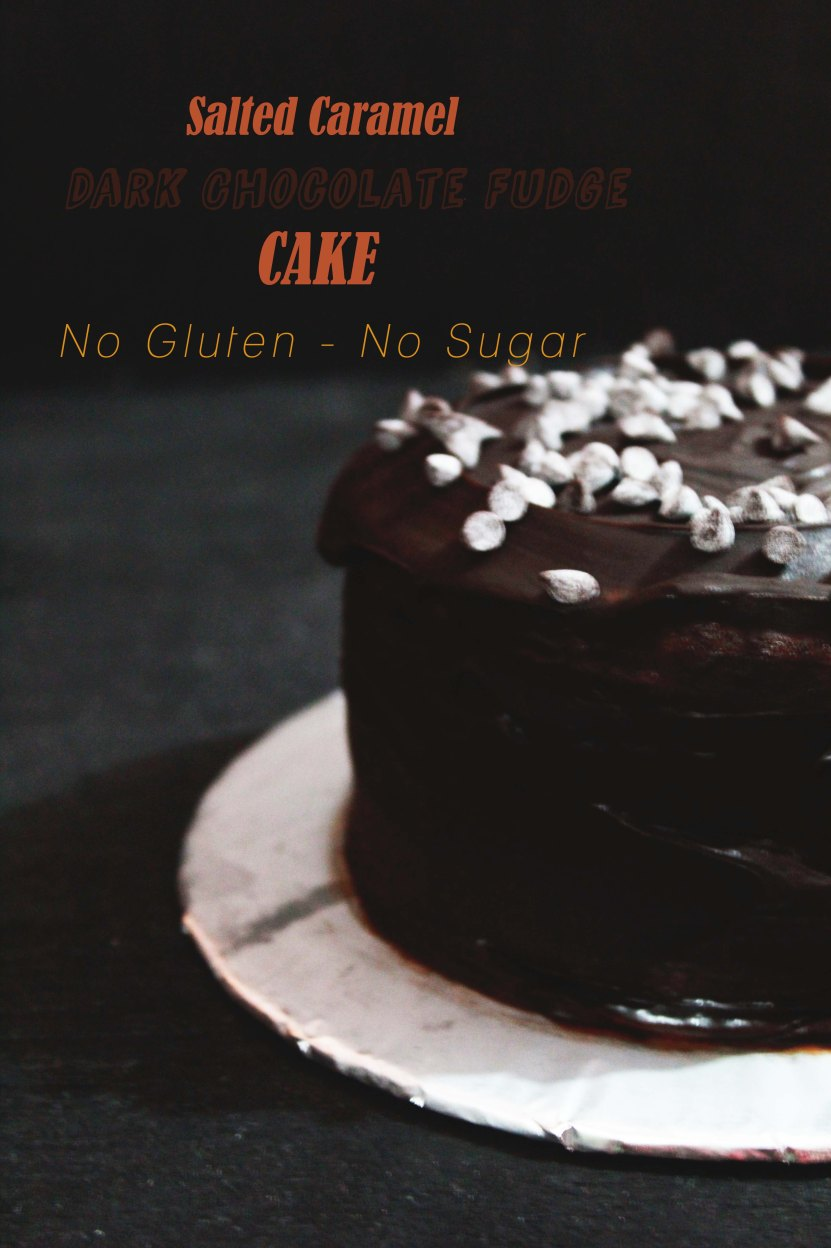 salted caramel and dark chocolate fudge cake