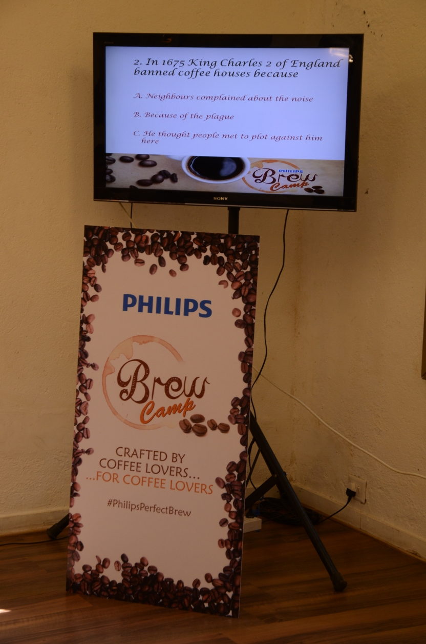 Coffee quiz at Philips Brew Camp on Saturday 16th Nov 2013