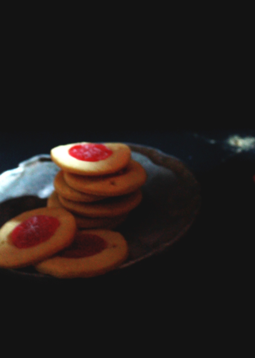 ginger cherry cookies 016
